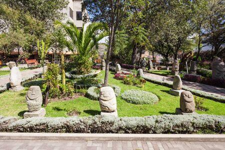 ancash: The Archeology Museum of Ancash Garden in Huaraz, Peru Stock Photo