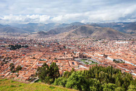 cusco: Cusco panorama from Saqsaywaman in Cusco, Peru