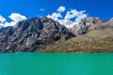 cordillera: The Llanganuco Lakes: Chinanqucha and Urqunqucha are situated in the Cordillera Blanca in the Andes of Peru.