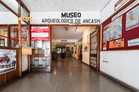 ancash: HUARAZ, PERU - MAY 28, 2015: The Archeology Museum of Ancash in Huaraz, Peru. Editorial