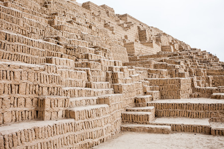 miraflores district: The Huaca Pucllana, also Huaca Juliana is a great adobe and clay pyramid located in the Miraflores district of Lima, Peru
