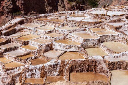 evaporacion: La salina en Maras (Salinas de Maras), cerca de Cusco, Per�