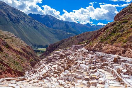 evaporacion: La salina en Maras (Salinas de Maras), cerca de Cusco, Perú