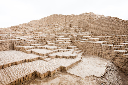 miraflores district: The Huaca Pucllana in the Miraflores district of Lima, Peru