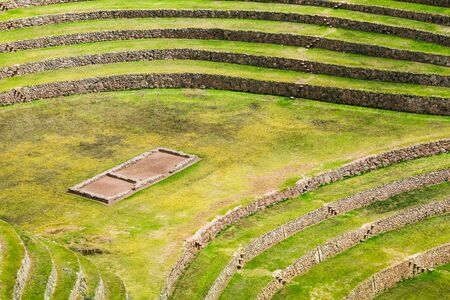 inca: Moray is an Inca agricultural experiment station, Peru Stock Photo
