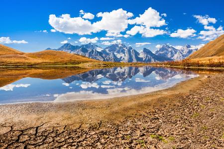 mestia: Koruldi Lake near Mestia in Upper Svaneti region, Georgia