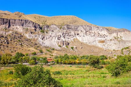 rustaveli: Vardzia is a cave monastery site located near Aspindza, Georgia. It is a very popular tourist destination in Georgia.