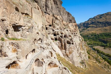 Vardzia is a cave monastery site excavated from the Erusheti Mountain. The main period of construction was the second half of the twelfth century.