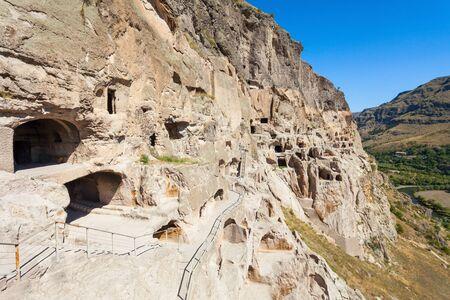 rustaveli: Vardzia is a cave monastery site excavated from the slopes of the Erusheti Mountain Stock Photo