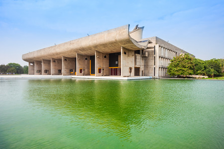 The Assembly building in the Capitol Complex of Chandigarh, India
