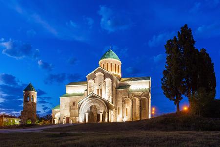 kutaisi: Bagrati Cathedral at night in Kutaisi, Georgia.