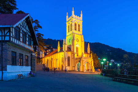 oldest: Christ Church in Shimla is the second oldest church in North India Stock Photo