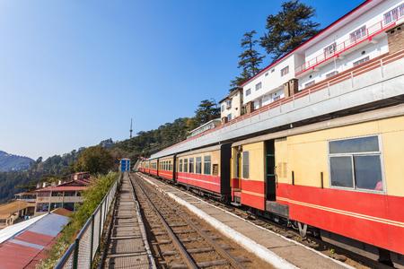 railway transportation: Shimla Railway station in Shimla, Himachal Pradesh, India