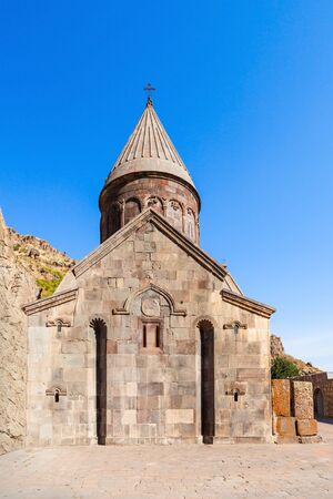 geghard: Geghard is a medieval monastery, located in the Kotayk province of Armenia Stock Photo