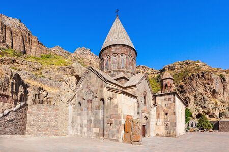 geghard: Geghard is a medieval monastery in the Kotayk province of Armenia, carved out of the adjacent mountain. It is listed as a UNESCO World Heritage Site.