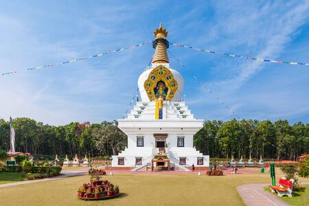 largest: The Great stupa in Mindrolling Monastery in Dehradun, India is a largest stupa in the world.
