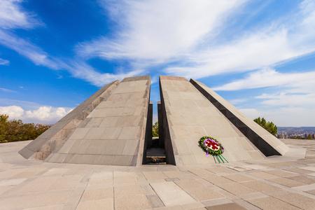 genocide: Tsitsernakaberd - The Armenian Genocide memorial complex is Armenia official memorial dedicated to the victims of the Armenian Genocide in Yerevan, Armenia. Stock Photo