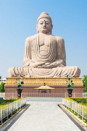 Great Buddha Statue near Mahabodhi Temple in Bodh Gaia, Bihar state of India Stock Photo