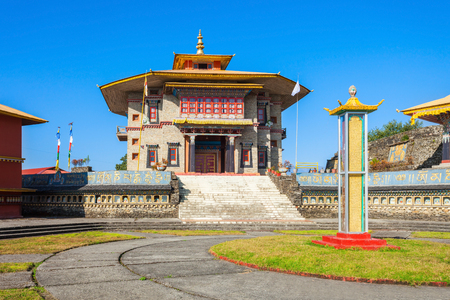 gompa: Karma Theckling Monastery (Mane Choekhorling Gompa) in Ravangla in South Sikkim, India Stock Photo
