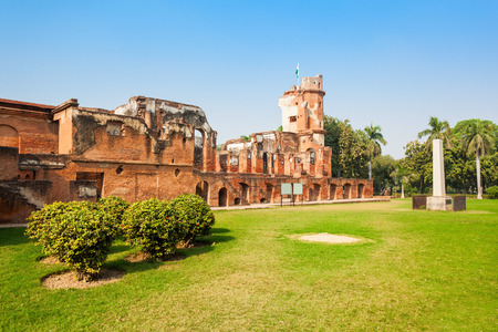 residency: The British Residency complex is a group of several building in a common precinct in the city of Lucknow, India. Stock Photo