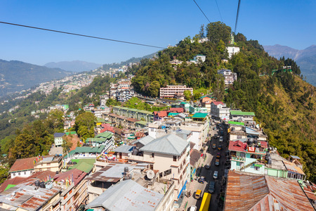 ropeway: Gangtok Ropeway in Gangtok city in the Indian state of Sikkim, India