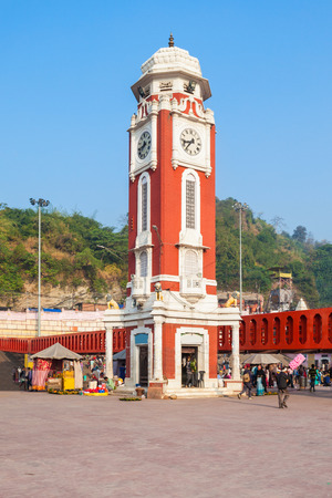 ki: Birla Clock Tower at Har Ki Pauri ghat in Haridwar, India.