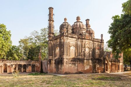 residency: Mosque at the British Residency complex in Lucknow, India