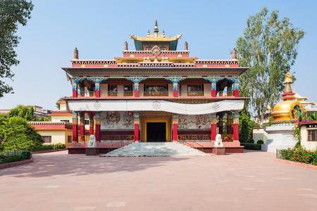 Tibetan Karma Kagyu Temple (Tibet Monastery) near Mahabodhi Temple in Bodh Gaia, Bihar state of India Stock Photo