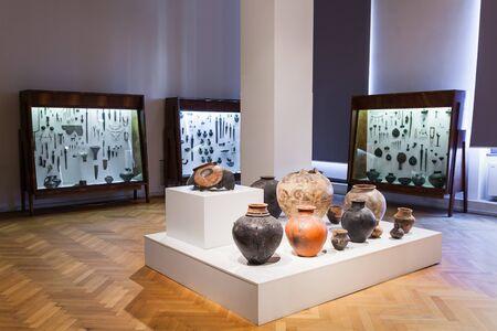 rustaveli: TBILISI, GEORGIA - SEPTEMBER 16, 2015: Georgian National Museum interior.