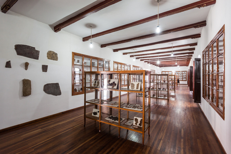 anthropological: SUCRE, BOLIVIA - MAY 22, 2015: Museo Charcas (University Museum Colonial and Anthropological) interior in Sucre, Bolivia. Editorial