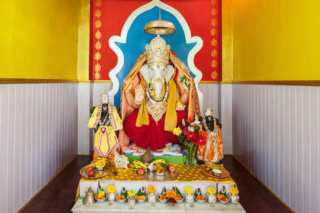 god ganesh: GANGTOK, INDIA - NOVEMBER 19, 2015: Ganesha statue at Ganesh Tok Temple viewpoint in Gangtok, Sikkim state of India.