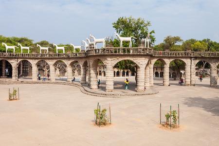 the rock: CHANDIGARH, INDIA - NOVEMBER 04, 2015: The Rock Garden of Chandigarh is a sculpture garden in Chandigarh, India, also known as Nek Chands Rock Garden. Editorial