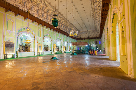 mughal architecture: LUCKNOW, INDIA - NOVEMBER 14, 2015: Bara Imambara interior. Itis an imambara complex in Lucknow, India.