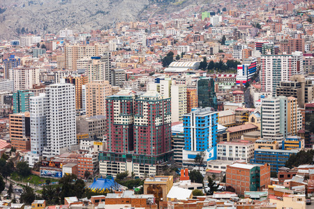 la paz: LA PAZ, BOLIVIA - MAY 16, 2015: Nuestra Senora de La Paz aerial view, Bolivia.