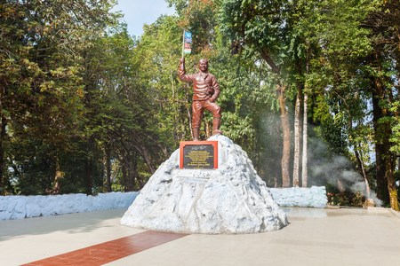 darjeeling: DARJEELING, INDIA - NOVEMBER 18, 2015: Tenzing Norgay memorial at the Himalayan Mountaineering Institute in Darjeeling, India.