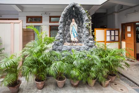 kolkata: KOLKATA, INDIA - NOVEMBER 24, 2015: Missionaries of Charitys Mother Teresa House (Headquarters) interior in Kolkata.