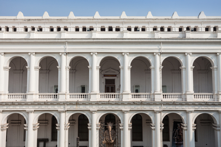 antiques: KOLKATA, INDIA - NOVEMBER 24, 2015: The Indian Museum is the largest and oldest museum in India and has rare collections of antiques, armour and ornaments, fossils and Mughal paintings.