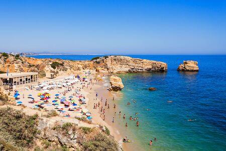 region of algarve: Sao Rafael beach in Albufeira, Algarve region, Portugal Stock Photo