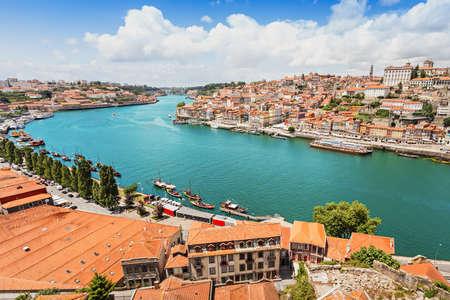 douro: Douro river and traditional boats in Porto, Portugal
