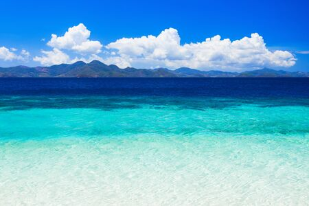 turquoise water: Nobody on the beauty beach with turquoise water