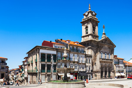 guimaraes: Toural Square (Largo do Toural) is one of the most central and important squares in Guimaraes, Portugal