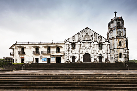 mayon: Our Lady of the Gate Parish (Daraga church)  in Legazpi, Philippines
