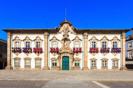 local government: The Braga Town Hall is a landmark building located in Braga, Portugal. In there is located the Camara Municipal, the city local government. Editorial