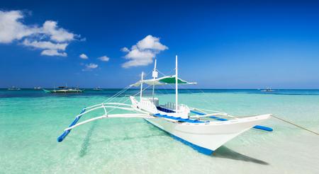 boracay: Filipino boat in the sea, Boracay, Philippines