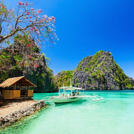 coron: Filipino boat in the sea, Coron, Philippines