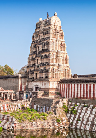 god's cow: Virupaksha hindu temple and ruins, Hampi, India Editorial