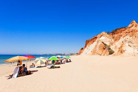 region of algarve: Falesia beach in Albufeira, Algarve region in Portugal