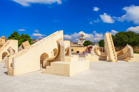 astronomical: Astronomical instruments at Jantar Mantar observatory, Jaipur, India