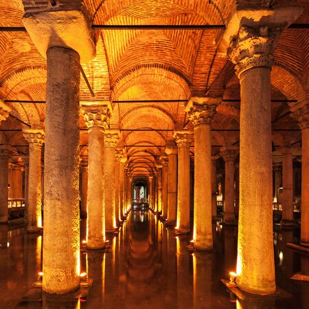 cistern: The Basilica Cistern (Turkish: Yerebatan Sarayi - Sunken Palace), is the largest of several hundred ancient cisterns that lie beneath the city of Istanbul, Turkey.