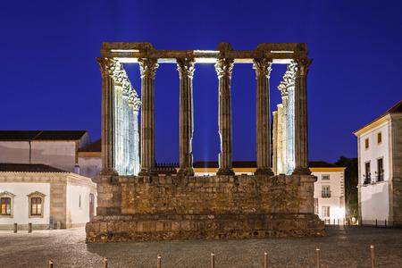 diana: The Roman Temple of Evora (Templo romano de Evora), also referred to as the Templo de Diana is an ancient temple in the Portuguese city of Evora